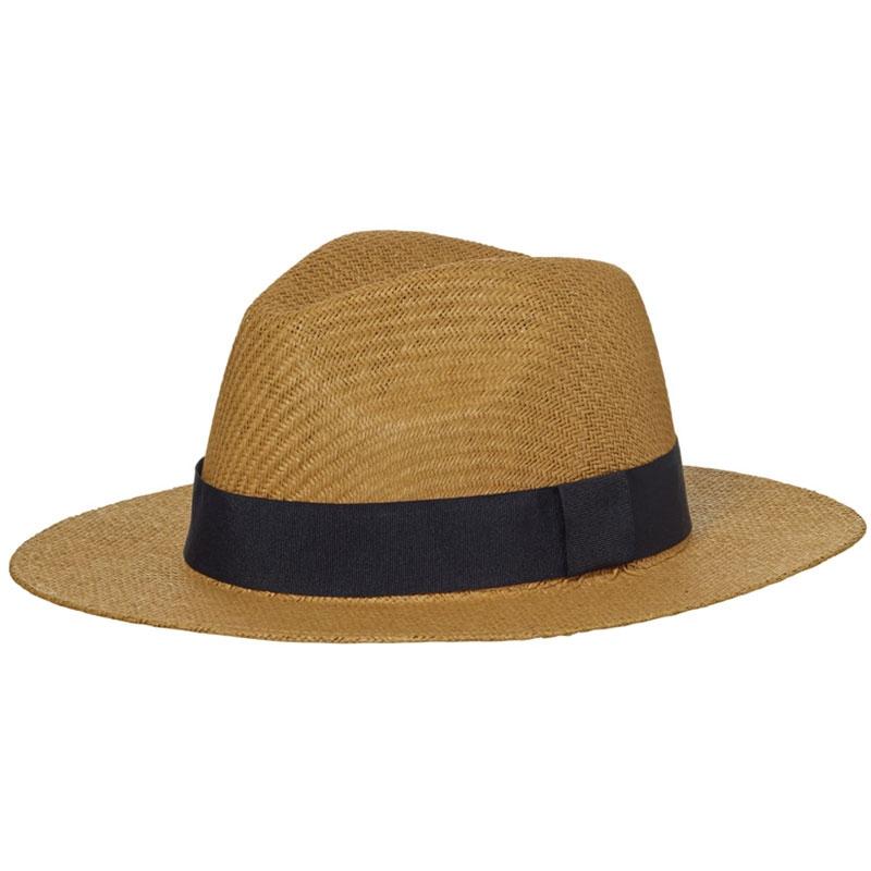 Chapeau publicitaire Bucolique en paille tressée ruban noir