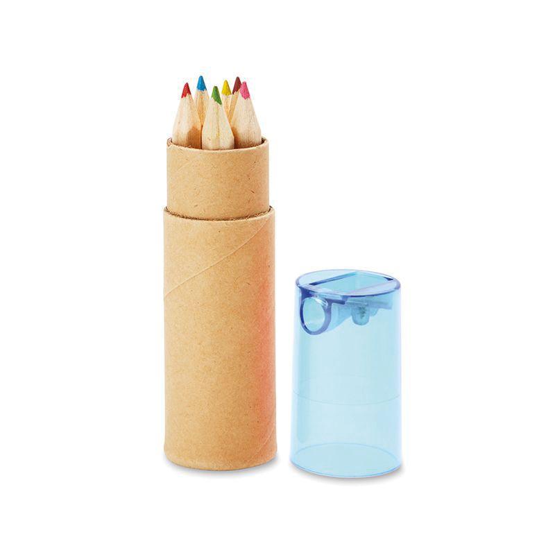Objet publicitaire - Tube de 6 crayons de couleur Petit Lambut
