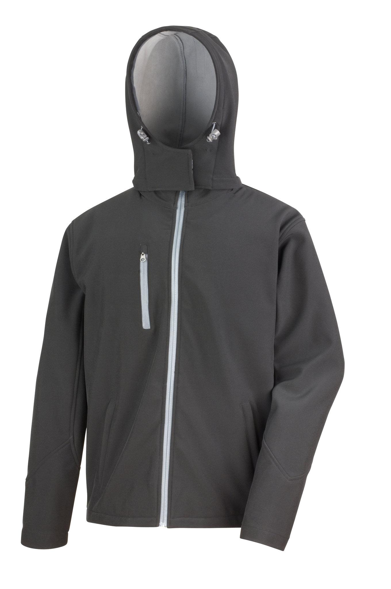 Veste promotionnelle Hoodo pour homme noir/gris - veste publicitaire