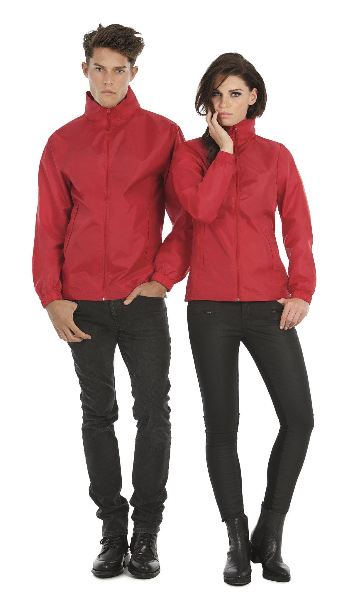 Coupe-vent publicitaire Knit rouge - coupe-vent personnalisable