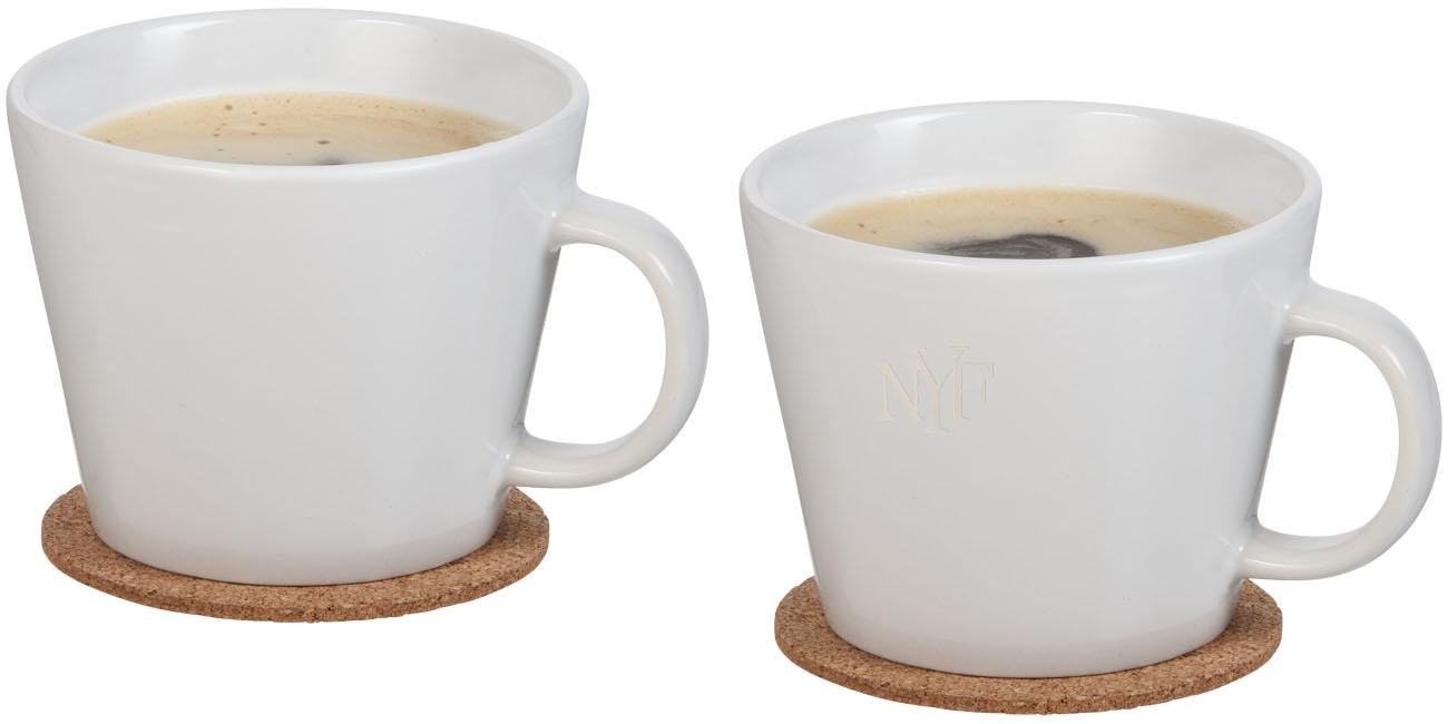 Set de 2 tasses personnalisables Hartley - cadeau d'entreprise