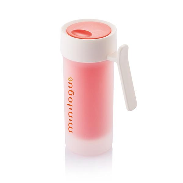 Mug personnalisable Pop rouge/blanc - mug promotionnel