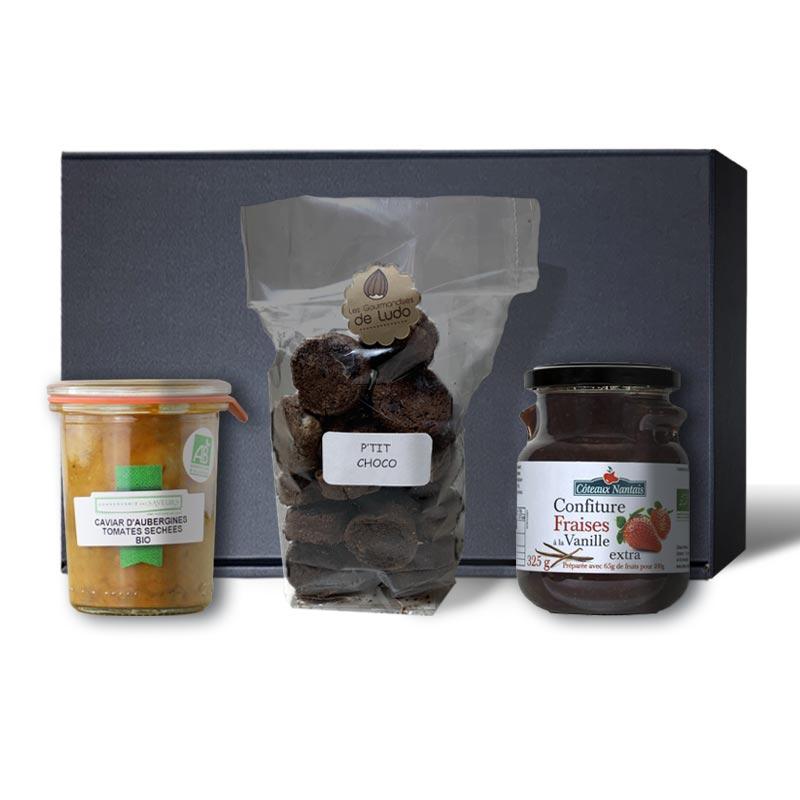 Panier gourmand bio 3 spécialités nantaises
