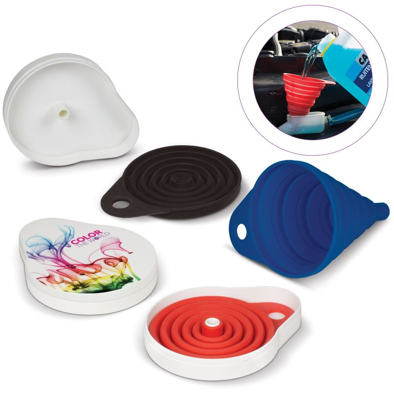Goodies - Entonnoir pliable publicitaire en silicone Flexi