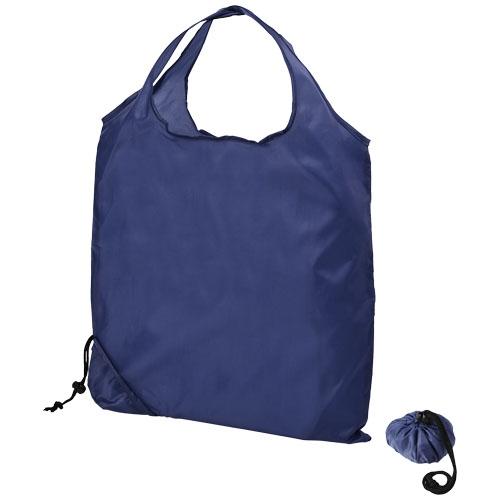 sac shopping promotionnel repliable en boule Scrunchy - bleu