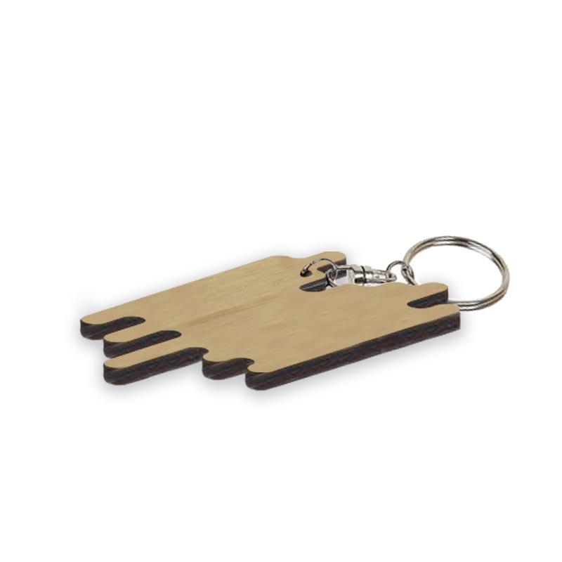 Porte-clés en bambou Aubier