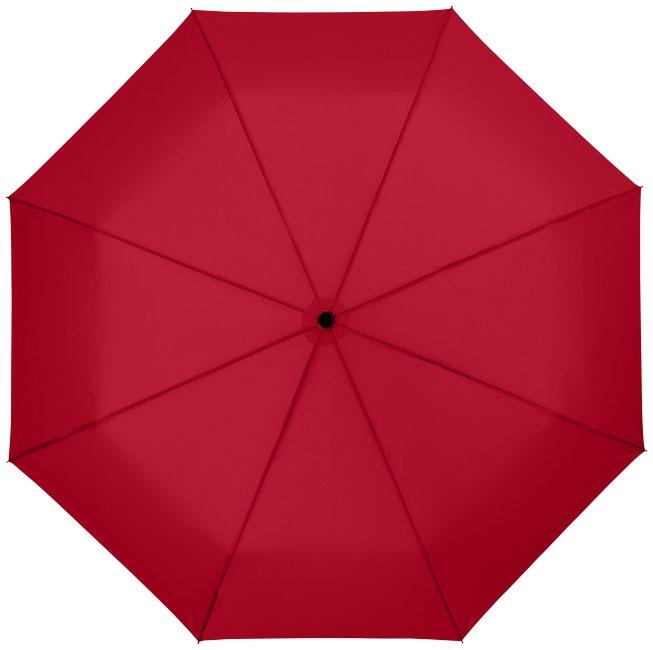 """Parapluie publicitaire 21"""" 3 sections ouverture automatique Wali - parapluie personnalisable - gris"""