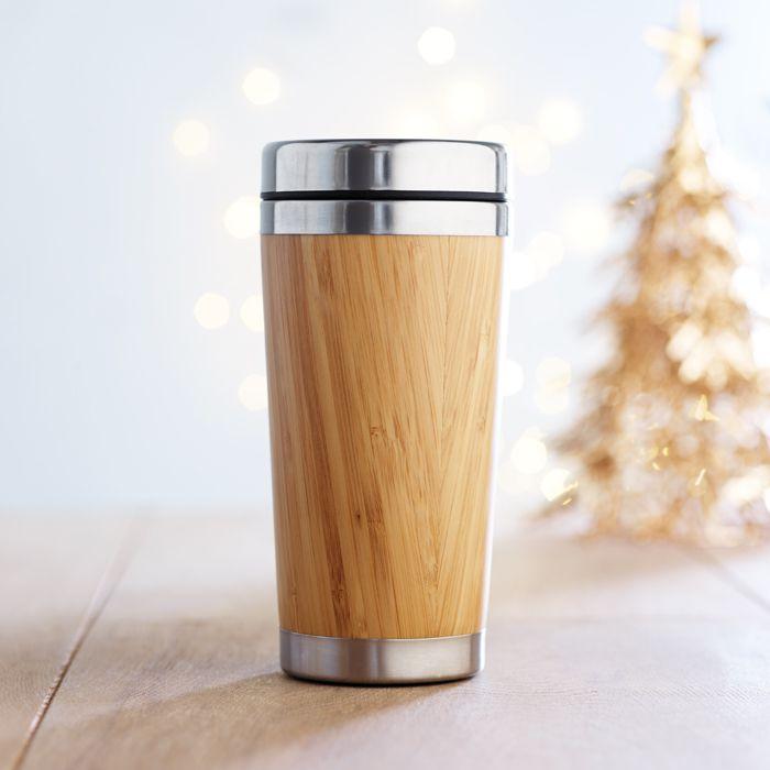 Gobelet bambou publicitaire Rodéo - mug personnalisé en bambou