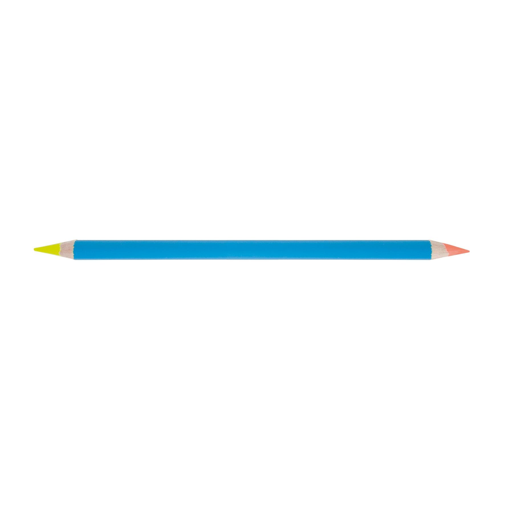 surligneur personnalisable - crayon publicitaire 2 mines fluo Bi-coul pantone