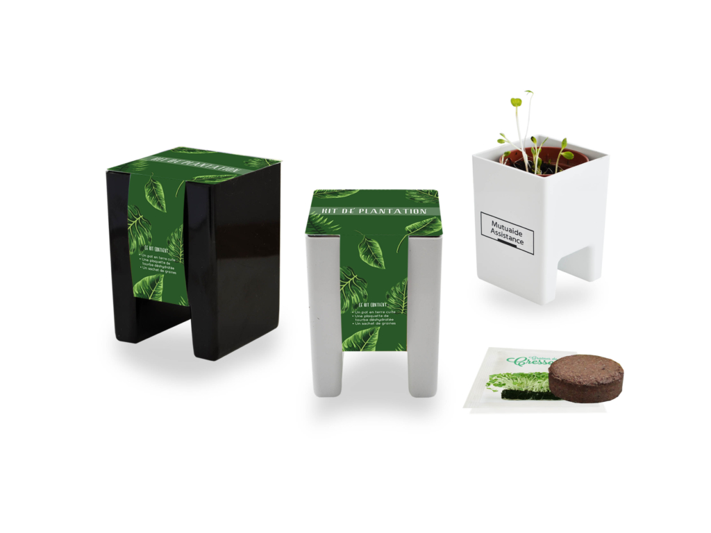 Cadeau d'entreprise végétal - Le Pot Ordi Kit Standard