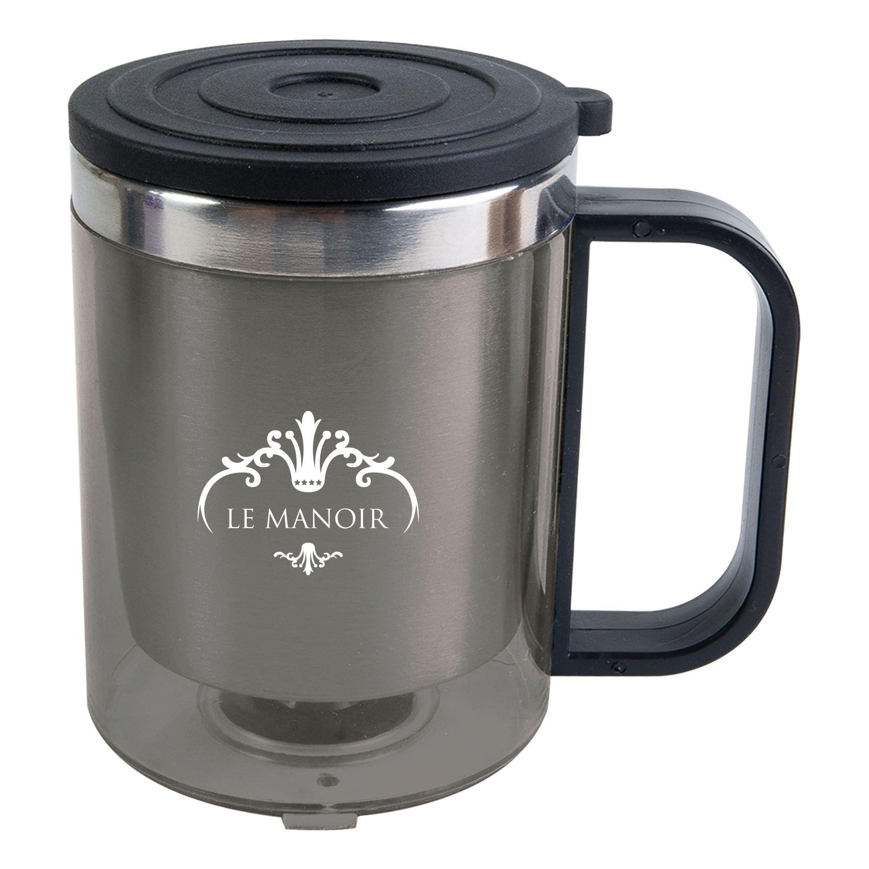 Mug isotherme 22 cl Double - Mug personnalisable - gris