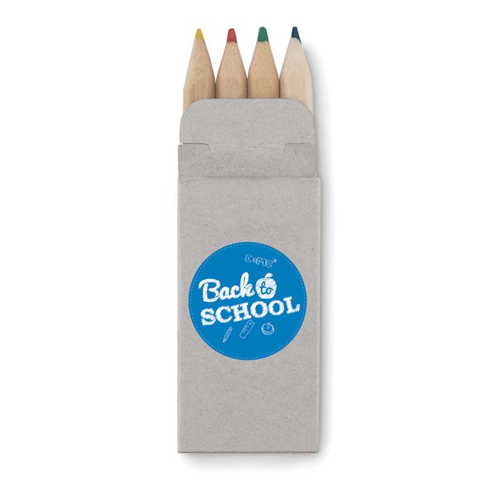 Boite publicitaire de 4 crayons de couleur Petit Abigail