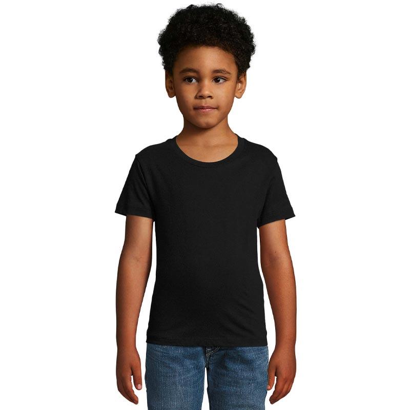 tee-shirt publicitaire enfant en coton bio Milo - coloris noir