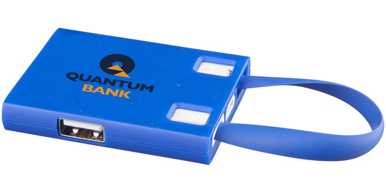 Hub publicitaire USB avec cables 3 en 1 Skilled - accessoire high-tech publicitaire