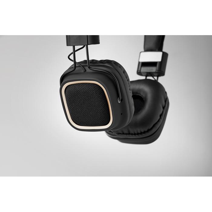 Cadeau d'entreprise - Casque vintage Bluetooth® personnalisable Rhythm