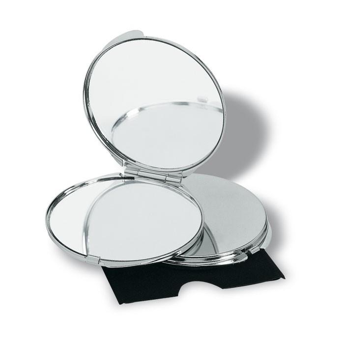 Miroir publicitaire de luxe chromé
