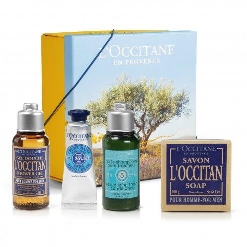 Coffret beauté publicitaire - Trousse week-end pour l'homme - L'Occitane en Provence