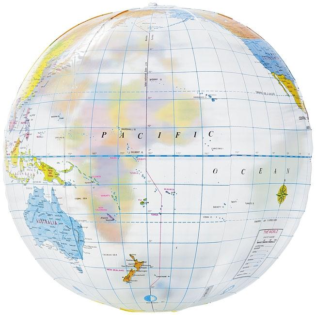 Goodies - Ballon de plage personnalisé transparent Globe