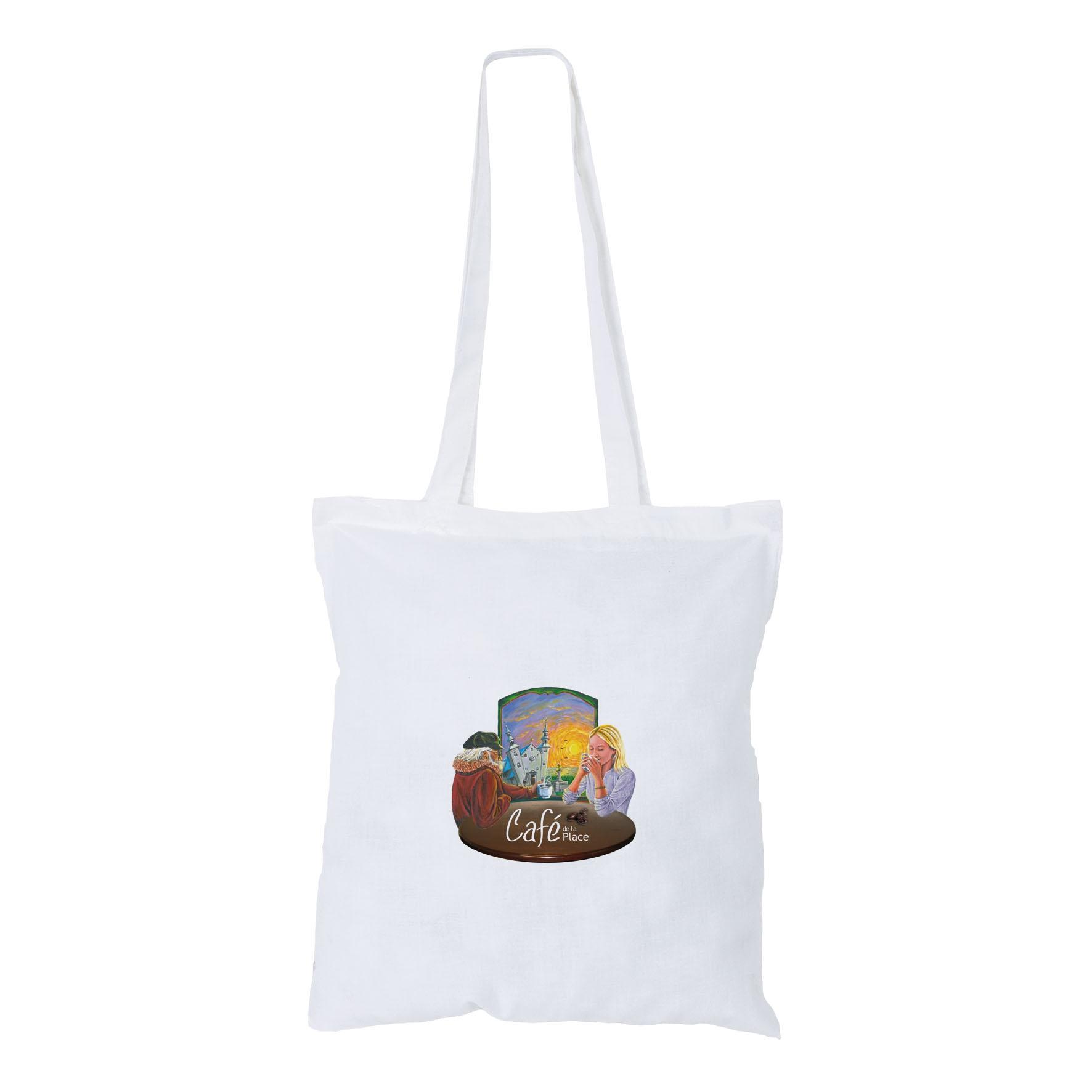 Sac shopping publicitaire coton Maria - sac shopping promotionnel