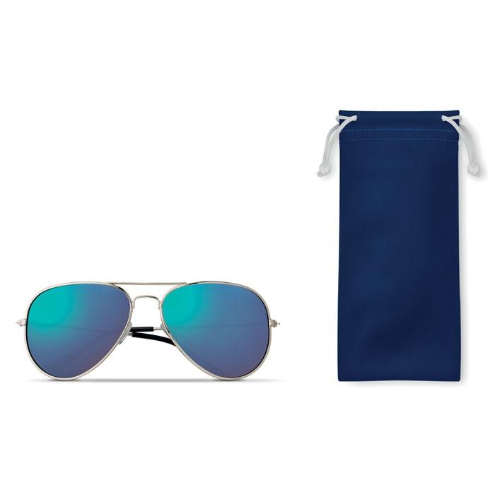 Lunettes de soleil publicitaires UV 400 et pochette microfibre Malibu - goodies fun