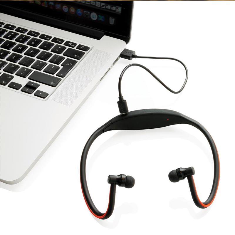Casque audio publicitaire avec LED Moove - Cadeau d'entreprise pour le sport