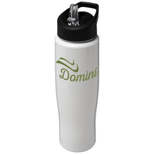 Gourde de sport publicitaire H2O Tempo® 700 ml avec couvercle à bec verseur transparente