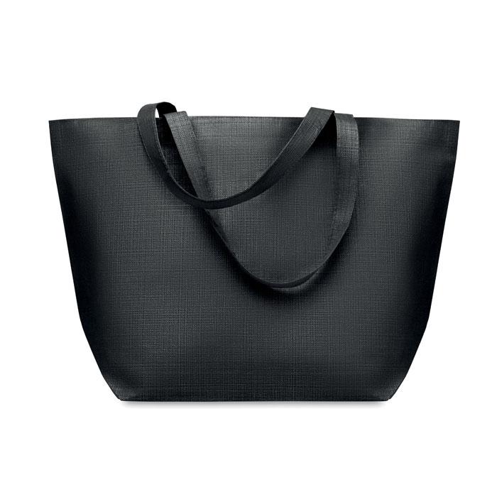 sac shopping publicitaire non tissé Duo - sac cabas personnalisable noir