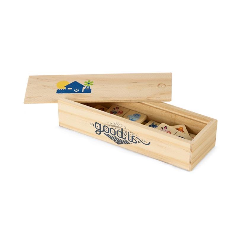Cadeau publicitaire - Jeu de dominos Same en bois