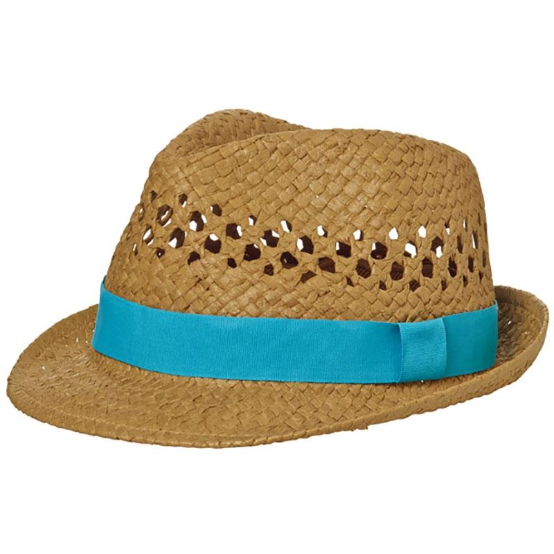 Chapeau publicitaire Look d'été avec bandeau turquoise