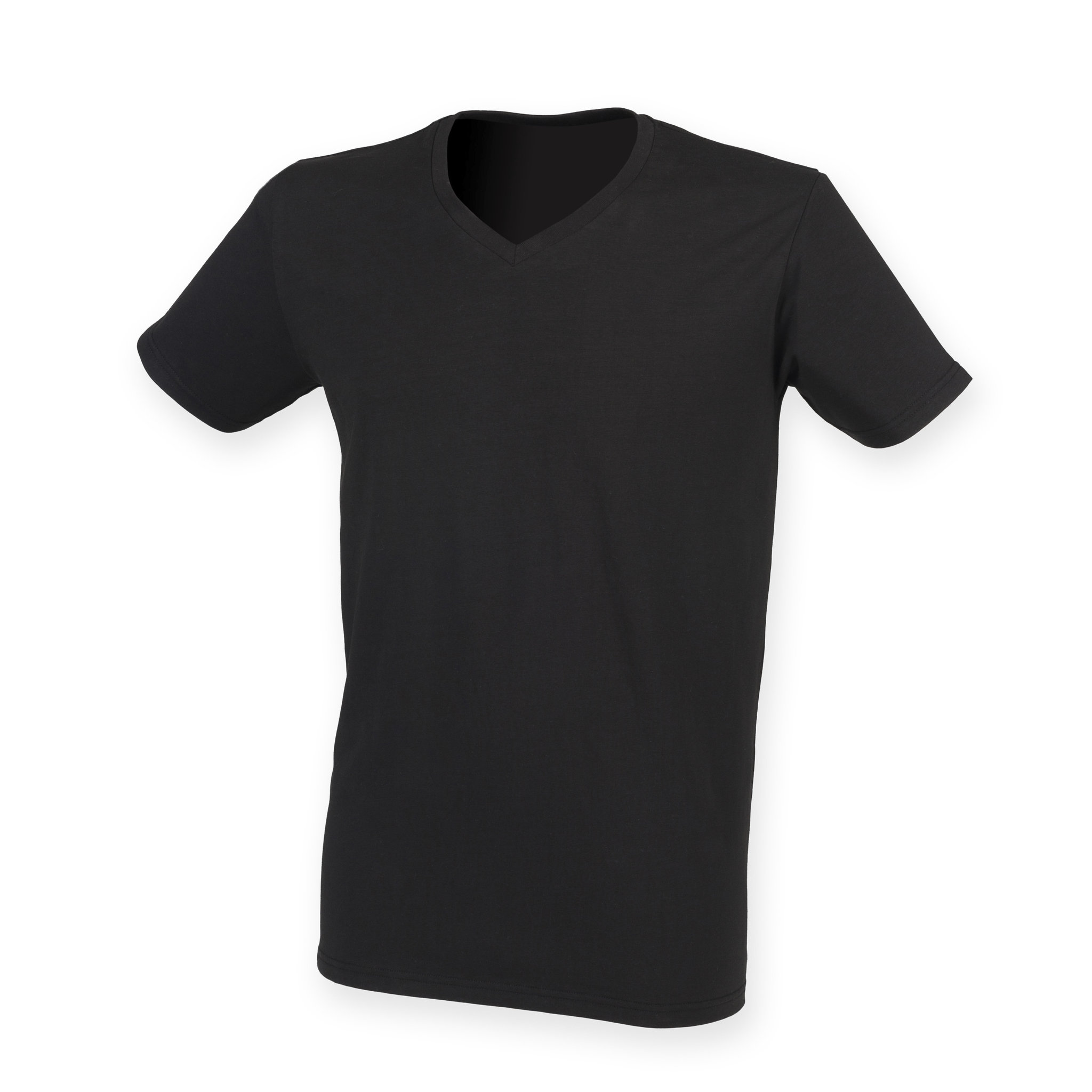 Tee-shirt stretch col V homme