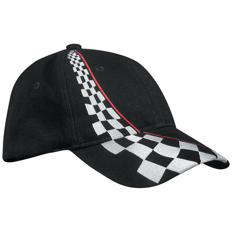 Casquette publicitaire style Racing noir - casquettes personnalisable