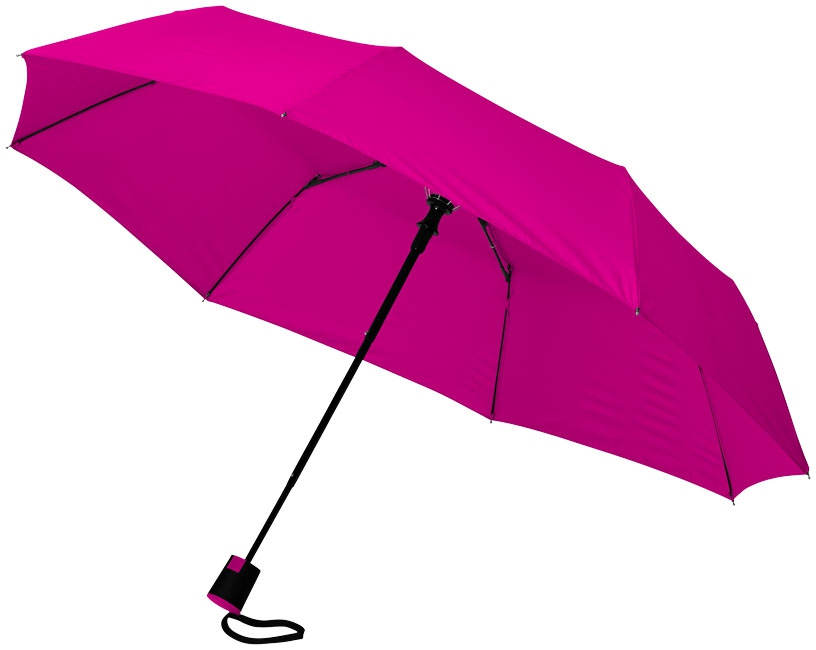 """Parapluie publicitaire 21"""" 3 sections ouverture automatique Wali - magenta"""