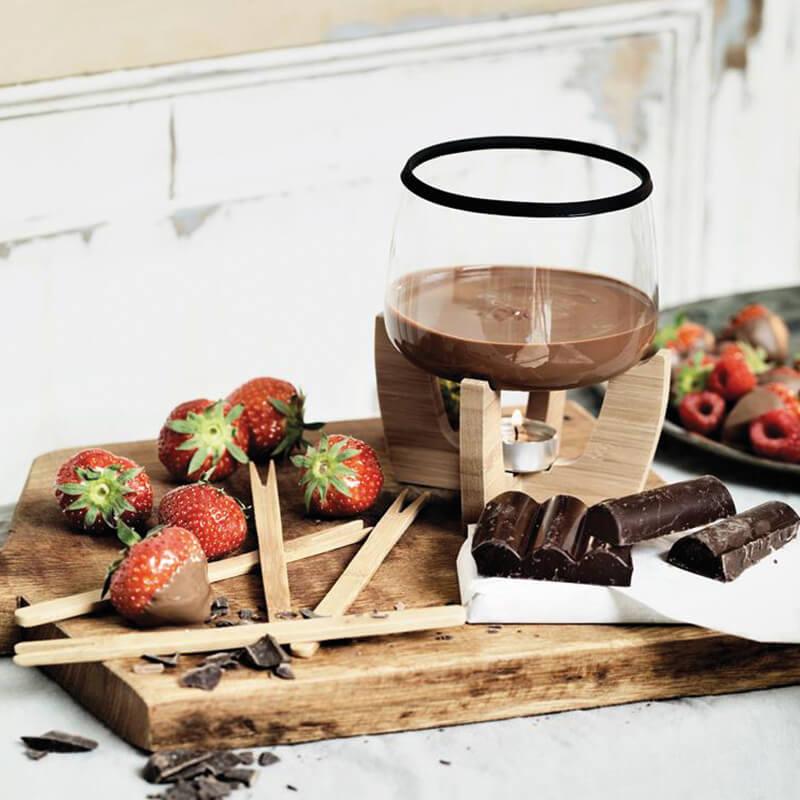 Cadeau d'entreprise gourmand - Set de fondue au chocolat Cocoa