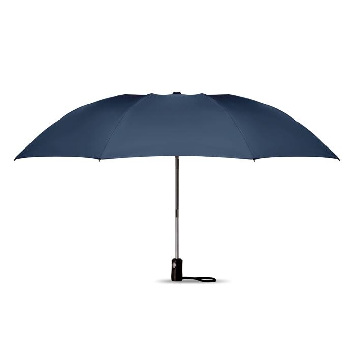 Parapluie publicitaire réversible pliable Dundee - Cadeau d'entreprise - bleu