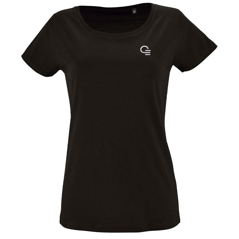 tee-shirt personnalisé en coton bio Milo - modèle femme