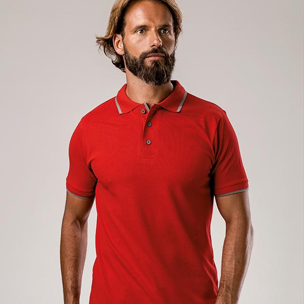 Polo publicitaire slim fit pour homme Rome couleur bleu marine