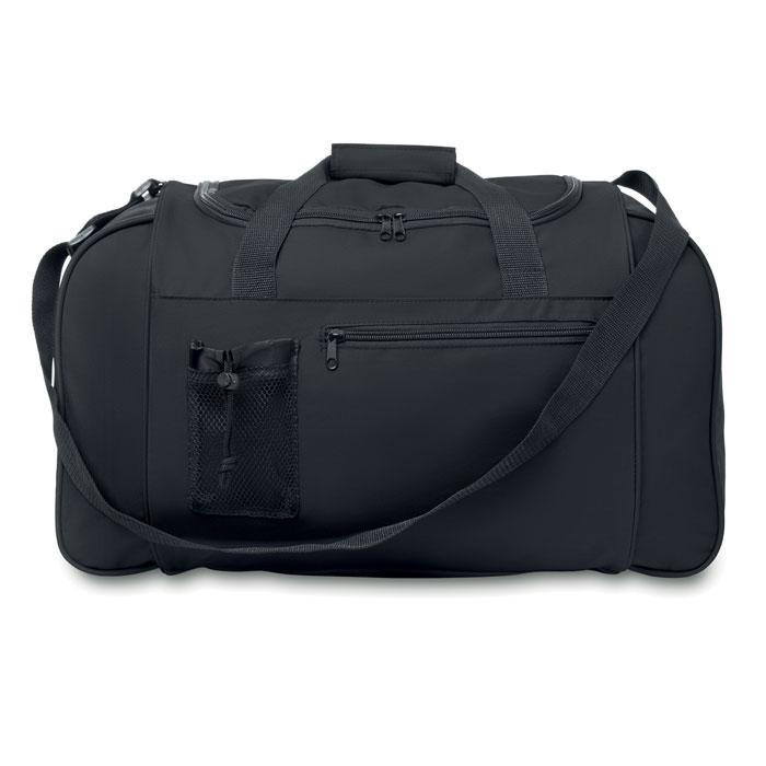Grand sac de sport publicitaire 600D Parana - Sac de sport personnalisable bleu