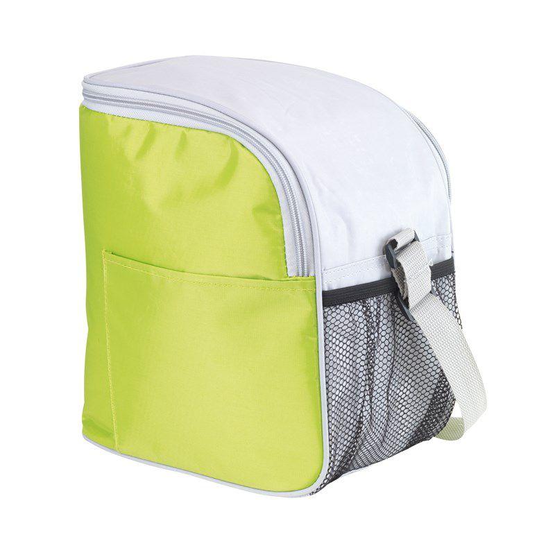 Sac isotherme publicitaire turquoise Glacial - Lunch bag à personnaliser