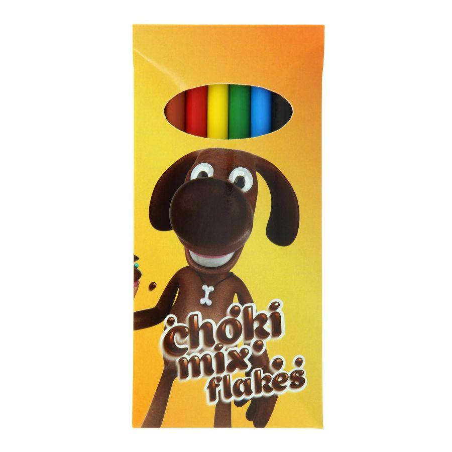 Boite de 6 crayons de cire publicitaire Bic® Plastidecor® - goodies écologique