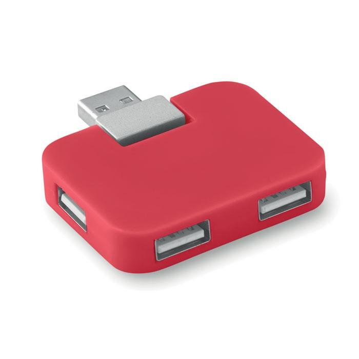 Hub publicitaire 4 ports USB square - orange