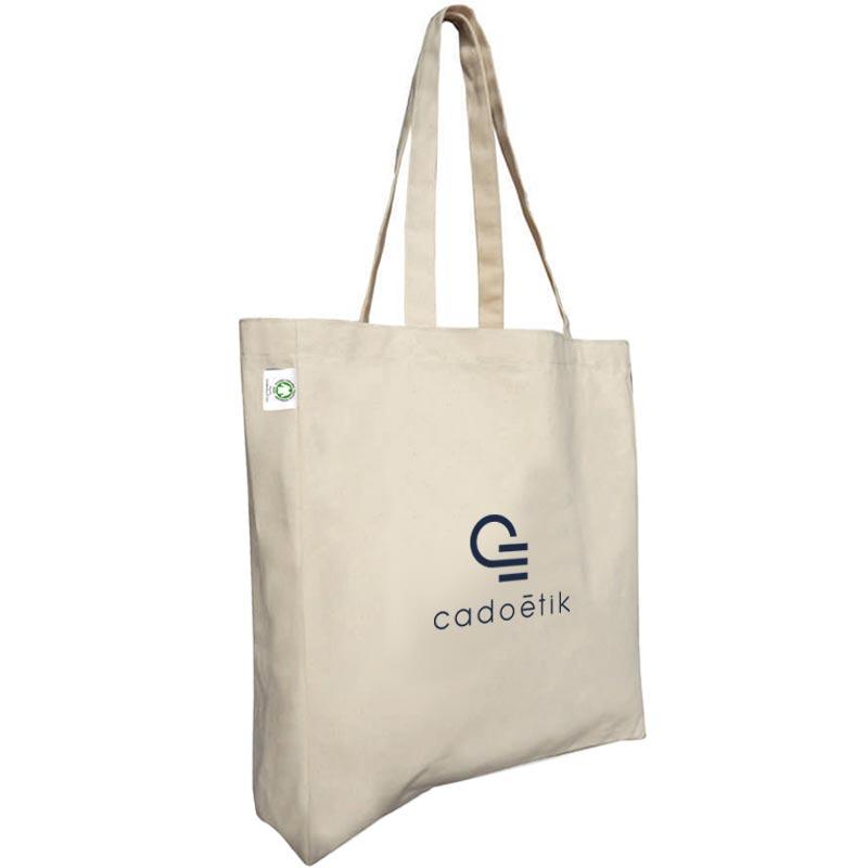 Sac shopping publicitaire écologique en coton Bio Banda écru - cadeau publicitaire écologique