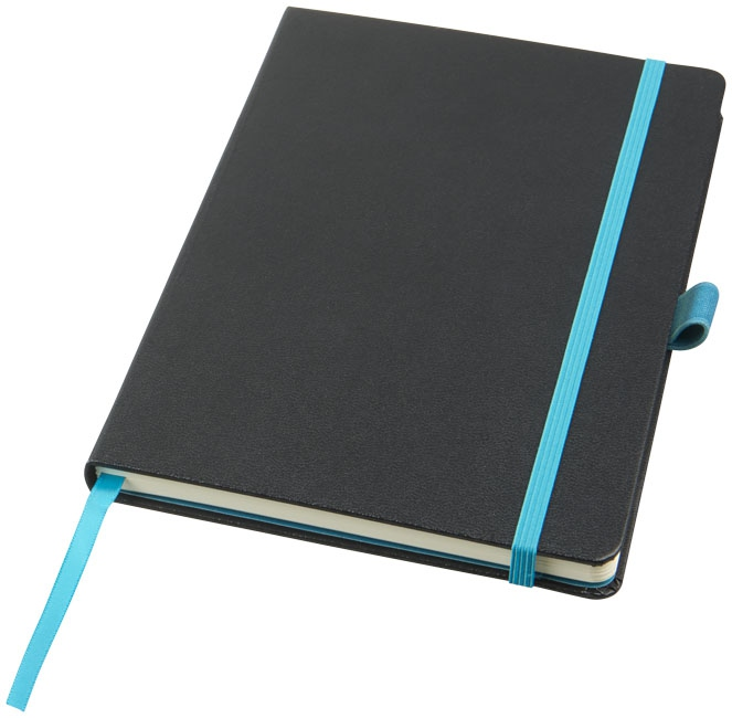 Bloc-notes publicitaire Melya noir et bleu