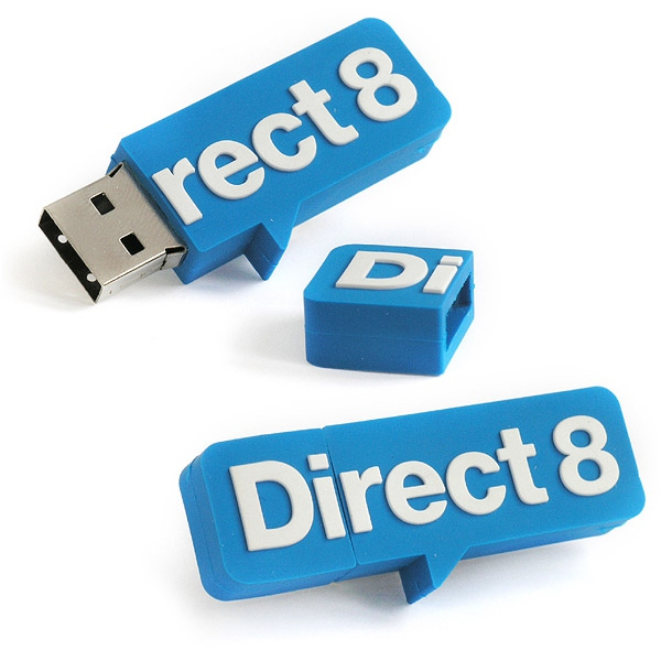 Clé USB publicitaire 2D - Cadeau promotionnel