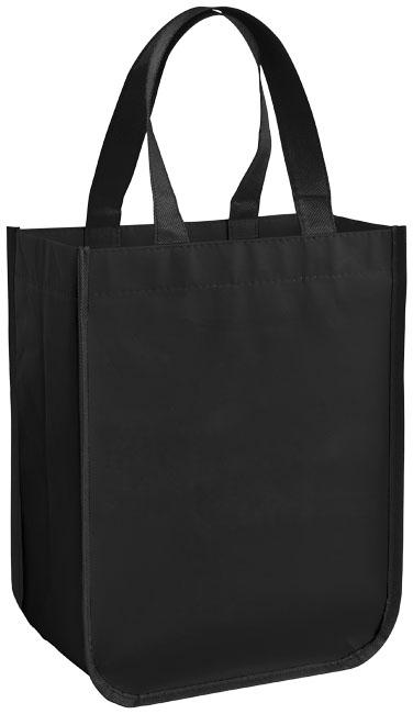 Petit sac shopping personnalisé laminé Pequeno noir