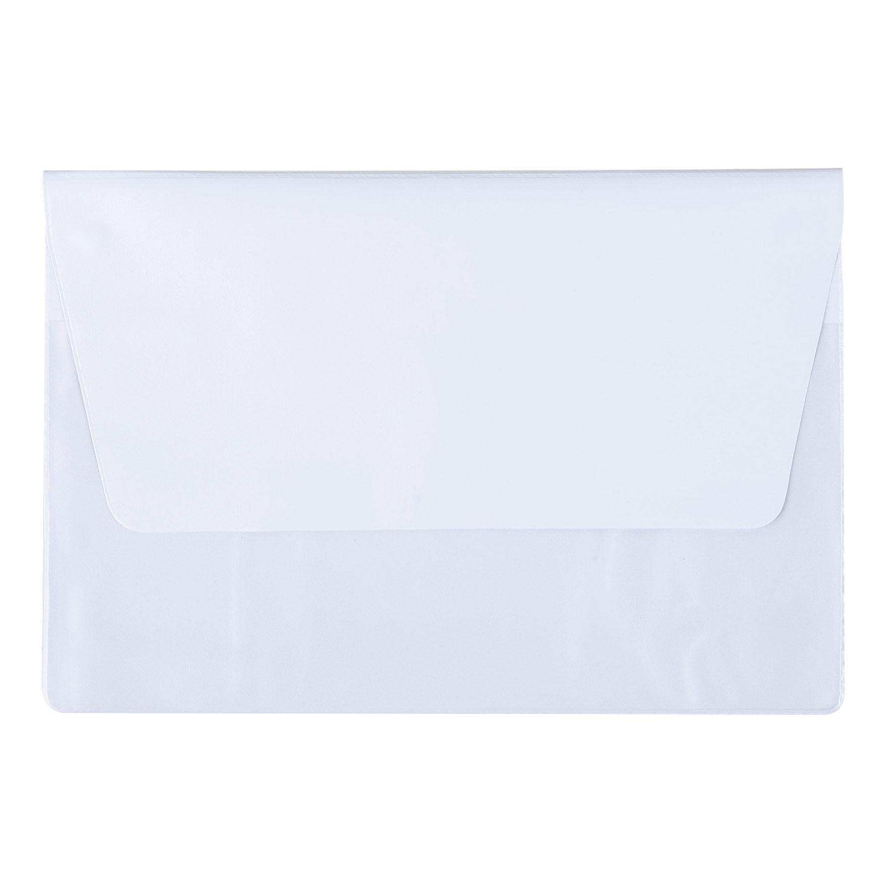 Cadeau d'entreprise - Pochette de voyage publicitaire 2 poches A5 - blanc