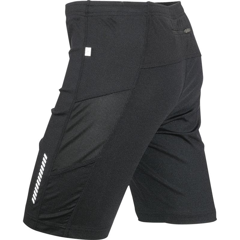 Short de running publicitaire pour homme Lycra® Sport noir