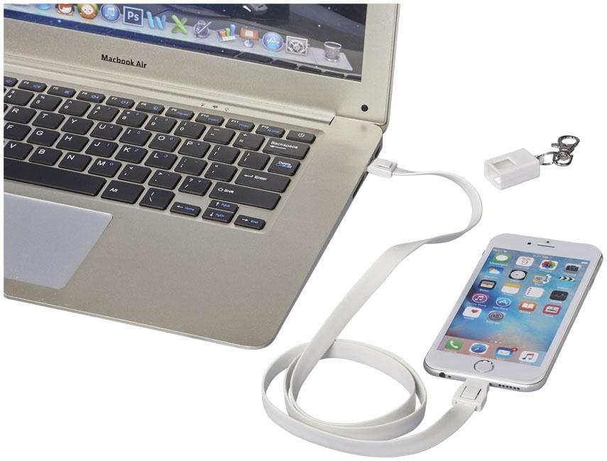 Câble de chargement personnalisé 2 en 1 avec clip Collar - objet publicitaire