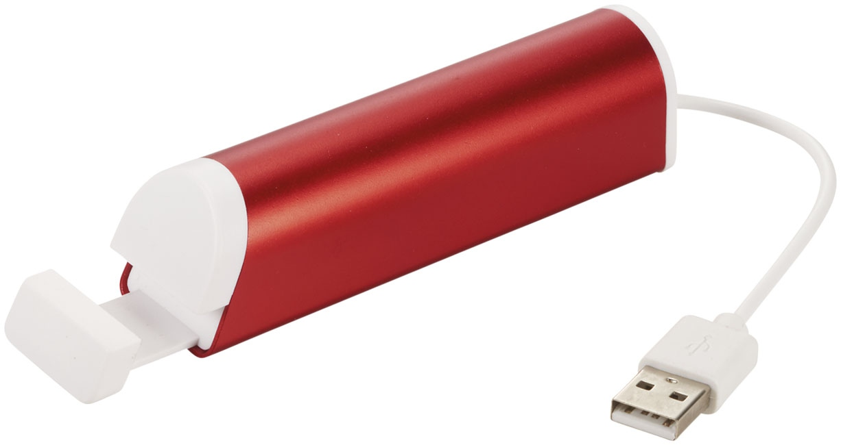 Support téléphone publicitaire et hub 4 ports Standup - rouge