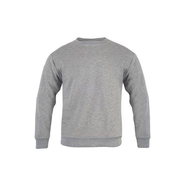 Sweat-shirt publicitaire unisexe col rond Delta - gris