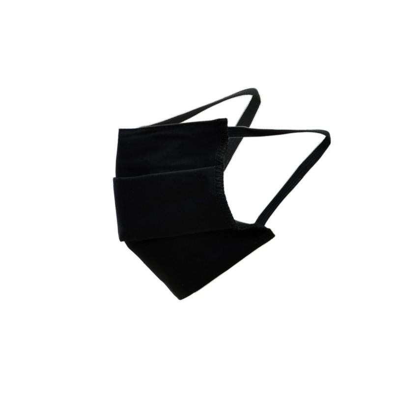 masque barrière en tissu noir